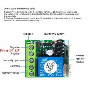 Image 4 - KEBIDU 433 Mhz العالمي لاسلكي للتحكم عن بعد التبديل 12 فولت 1CH التتابع وحدة الاستقبال RF الارسال 433 Mhz التحكم عن بعد