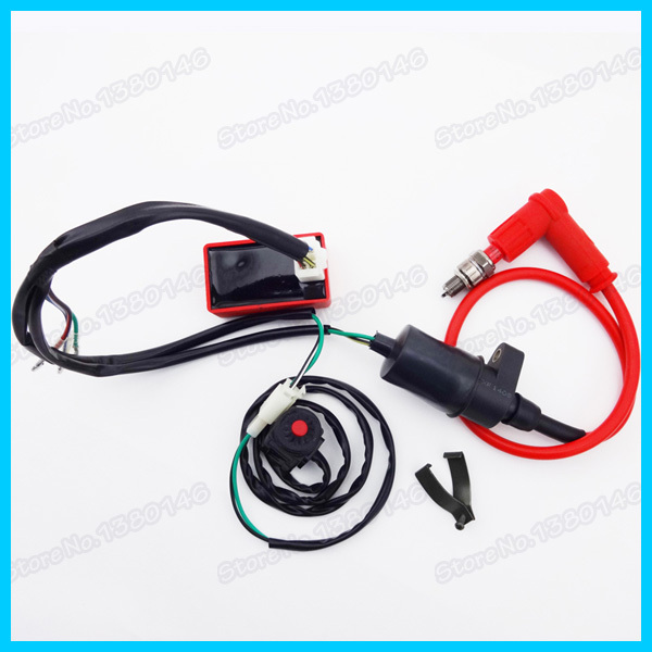 Wiring Loom Harness Kill Switch Racing Ignition Coil CDI Box Spark Plug Pit Dirt Bike Motocross wiring loom harness kill switch racing ignition coil cdi box spark spark plug wire harness at reclaimingppi.co