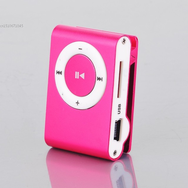 72461e1b4 Mokiwi Mini Clip Metal Mp3 Player With Micro / TF Slot For Mini SD Card Mp3  Pink