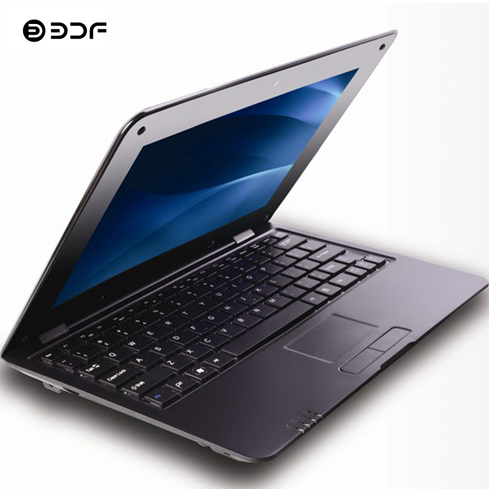 BDF 10.1 Inch Notebook Laptop Android Laptop Quad Core Android 6.0 Allwinner 1.5GHZ Bluetooth Wi-Fi Mini Laptop Netbook Laptop