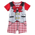 baby rompers baby one-piece clothes red bow Outfits for baby shortalls COTTON jumpsuits stripe tuxedo
