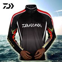 Men Stand Collar Quick Dry Breathable Fishing Shirt Long Sleeves  Professional Hiking Cycling Clothing Sunscreen Sportwear ba1da5c6d