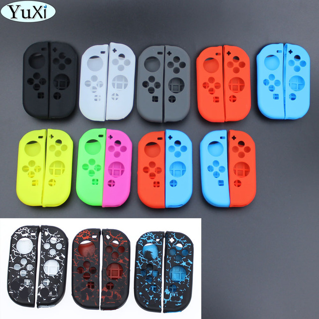 YuXi 1 مجموعة مكافحة زلة سيليكون لينة الحال بالنسبة نينتندو التبديل الغطاء الواقي الجلد ل نينتندو التبديل Joy Con تحكم ملحق