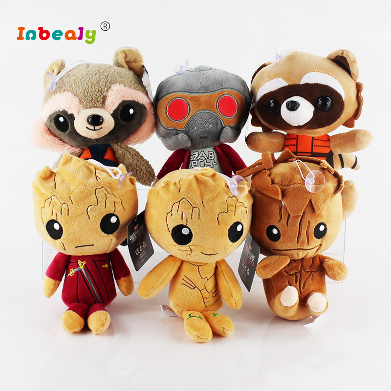 Guardians of the Galaxy 2 Characters Doll Plush Toy Kawaii 20cm Action Figure Stuffed Animals Soft Toys Children Birthday Gifts все цены