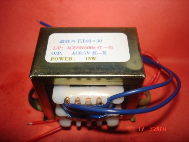 8.5V  1.75A  Transformer  220V  input  15VA   EI48*30  Microwave electrotherapy instrument multimedia transformer8.5V  1.75A  Transformer  220V  input  15VA   EI48*30  Microwave electrotherapy instrument multimedia transformer