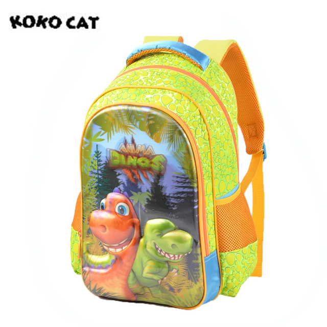 5d Dinosaur Cute Kids Children Backpack Bags High Quality Cartoon Bookbag School Backpacks For S Boys