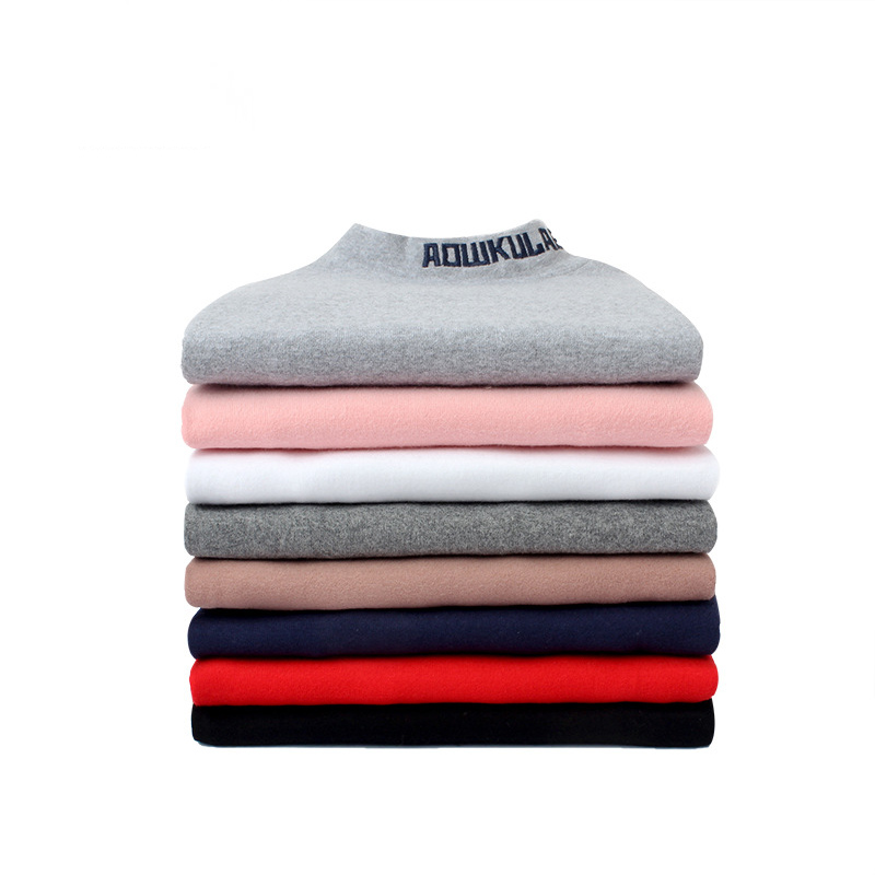 Kids T shirt Warming and Thickening Turtleneck Long sleeved Baby Girls 39 Top New Shirt in Spring 2019 Girls 39 Clothing 4 14 Years in Tees from Mother amp Kids