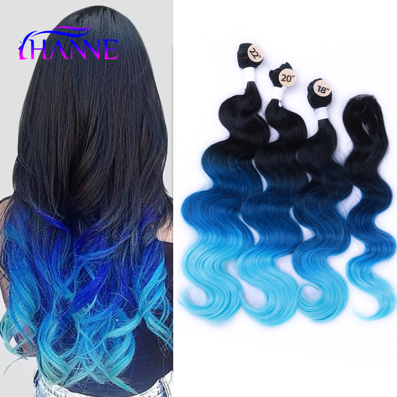 Aliexpress.com : Buy Synthetic Hair Weave With Closure 3 Tone ...