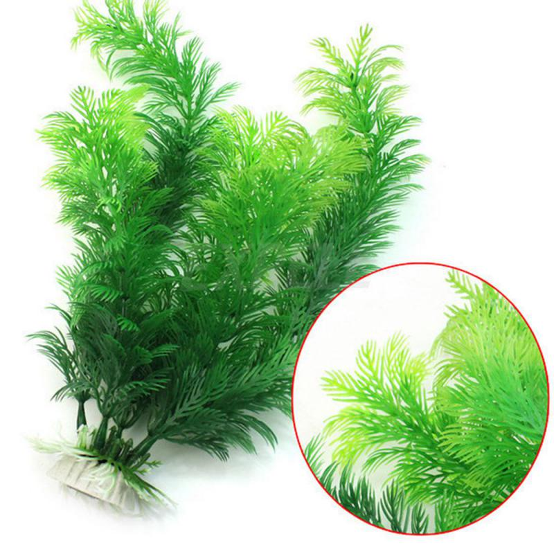 Hot Sale Artificial Aquarium Plant Decoration Fish Tank Submersible Flower Grass Decor Ornament 10-30cm 10 Styles Optional
