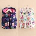Retail New Autumn Winter Girls Vest Coat Children Girl Flowers Velvet Jackets Coats