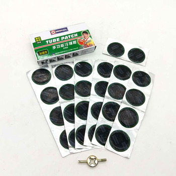 42mm round of natural rubber tyre patch multifunctional automobile motorcycle bicycle tire repair tubeless
