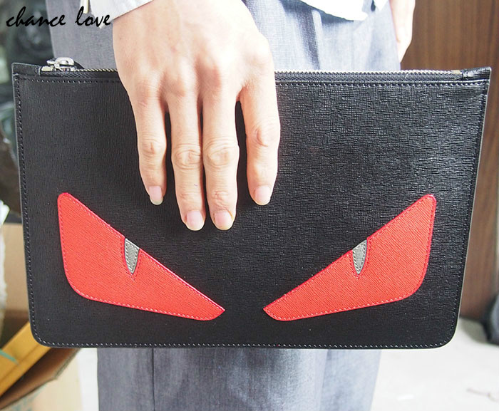 Chancelove Envelope Evening Clutch Bag Monster Pattern Leather Genuine Women Messenger Bags Purses and Handbags Designer