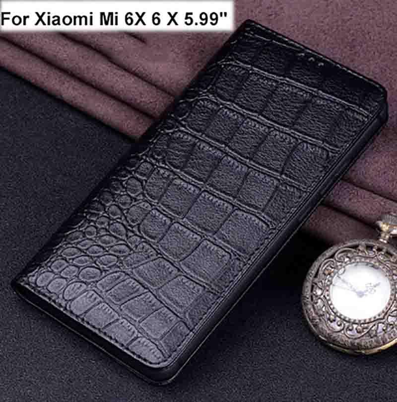 En Cuir véritable étui de téléphone pour xiaomi mi 6X6 X housse arrière Pour xiaomi mi 6X6 X étui coque arrière - 2