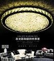 2019 высококачественный светодиодный потолочный круговой светильник прозрачное кольцо/янтарный/цветной K9 хрустальный потолочный светильни...