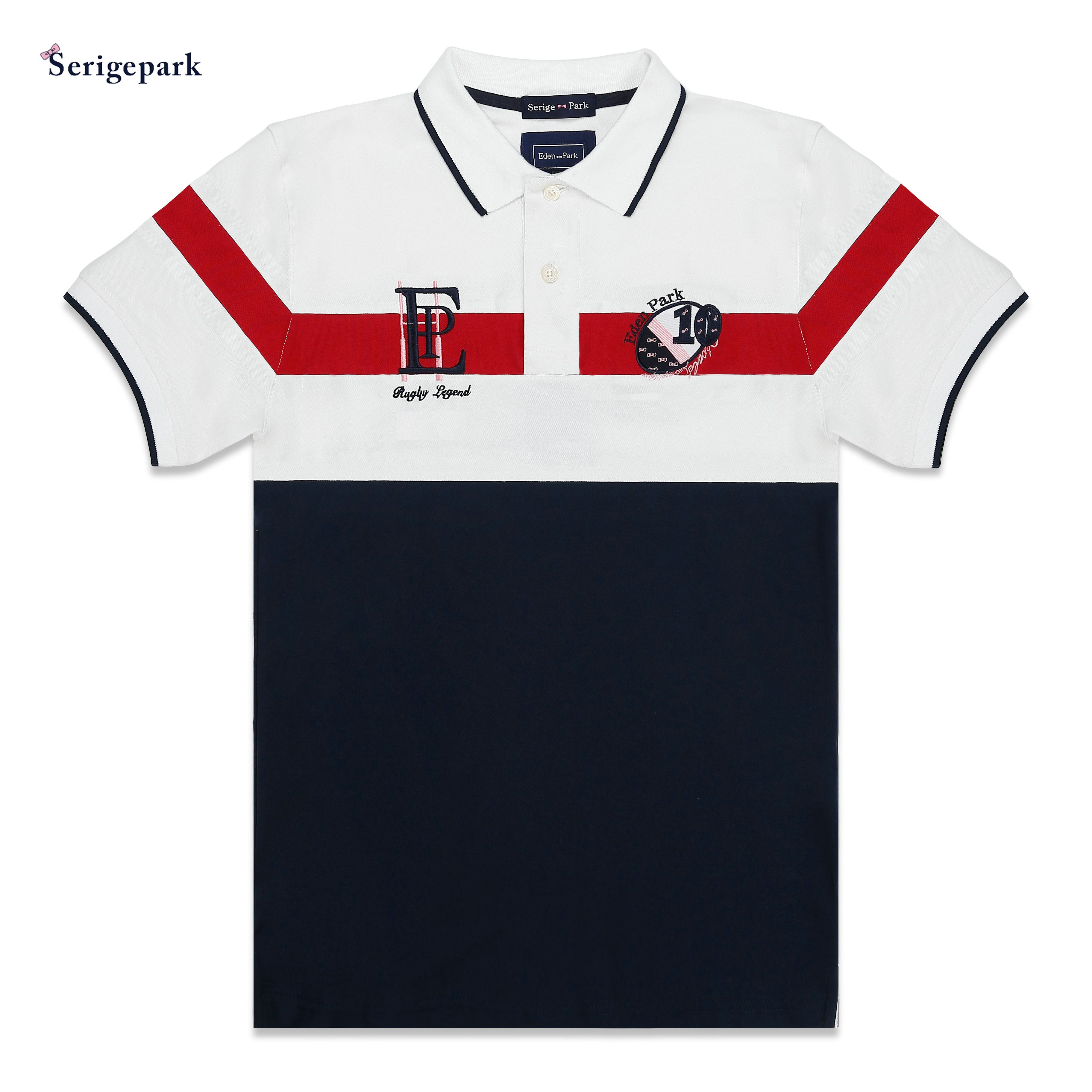 2019 FASHION PATTERN NEW MAN POLO SHIRT SHORT SLEEVE WITH HIGH QUALITY MATERIAL SERIGE EDEN PARK WITH SUPERIOR COTTON MATERIAL(China)
