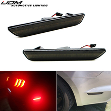 IJDM عدسات مدخنة الأحمر LED الخلفية مصابيح العلامات الجانبية ل 2010 2017 فورد موستانج ، سيدماركرز المدخن مدعوم من 45 SMD LED أضواء 12 فولت