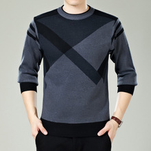 Men Sweater Winter Round neck Knitted Sweaters Male Casual Autumn Cashmere Pullovers Mens Fashion Patchwork Warm Knitting Jumper