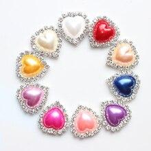 HOT SALE Beautiful ivory Rhinestone pearl Button 10pcs/lot ,Wedding dress invitation hair decoration,high quality and price