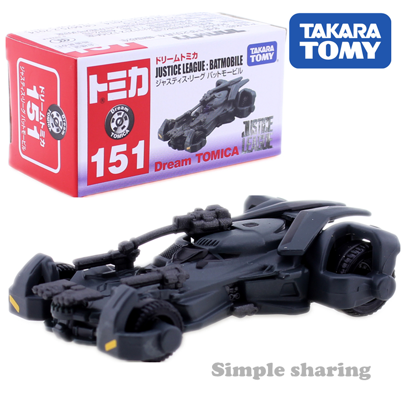 Takara Tomy Dream TOMICA No. 151 Hustic League Batmobile Mould Mini AUTO CAR Motors Vehicle Diecast Metal Model New Toys Limited