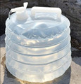 2015 Telescópica portátil dobrável PE balde saco chaleira novo não-tóxico produtos ao ar livre simples 3-15L
