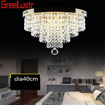 Round Ceiling Lights LED Crystal Ceiling lamp Luminarias Abajur Lustre For Living Roon Hall Plafonnier Home Deco Light Fixtures
