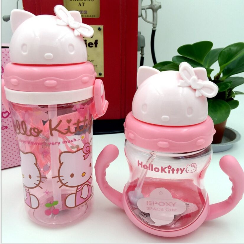 New Arrival 2 Colors Available 400ml Eco-friendly Cartoon Shaped My Water Bottle For Children Camping Sports Bottles