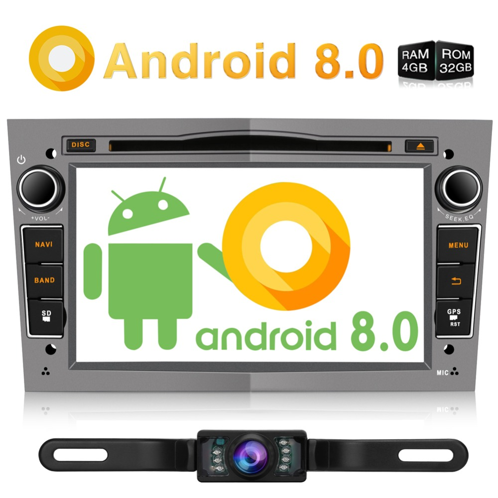 Pumpkin Octa-core RAM 4G ROM 32G 2 Din 7''Android 8.0 Car Radio Audio DVD Player GPS Navigation Stereo For Opel/Vectra/Corsa