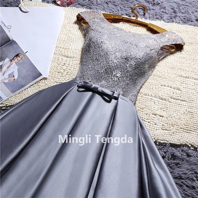 1078b1b74837 € 32.93 43% de DESCUENTO|Mingli Tengda rojo/Rosa encaje vestidos de dama de  honor cuello O satén vestido de dama de honor con cuentas Vestidos ...