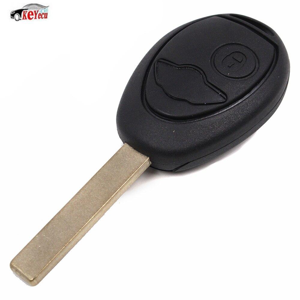 KEYECU nouveau remplacement 2 bouton télécommande voiture clé Fob 433MHZ ID73 puce pour BMW Mini Cooper 2002-2005 avec Code