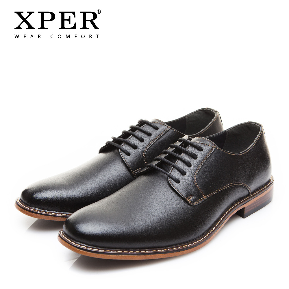 2018 XPER Brand Men Dress Shoes Fashion Comfortable Business Shoes Men Formal Shoes Lace-Up Male Wedding Shoes Black #XYWD8693BL цена 2017
