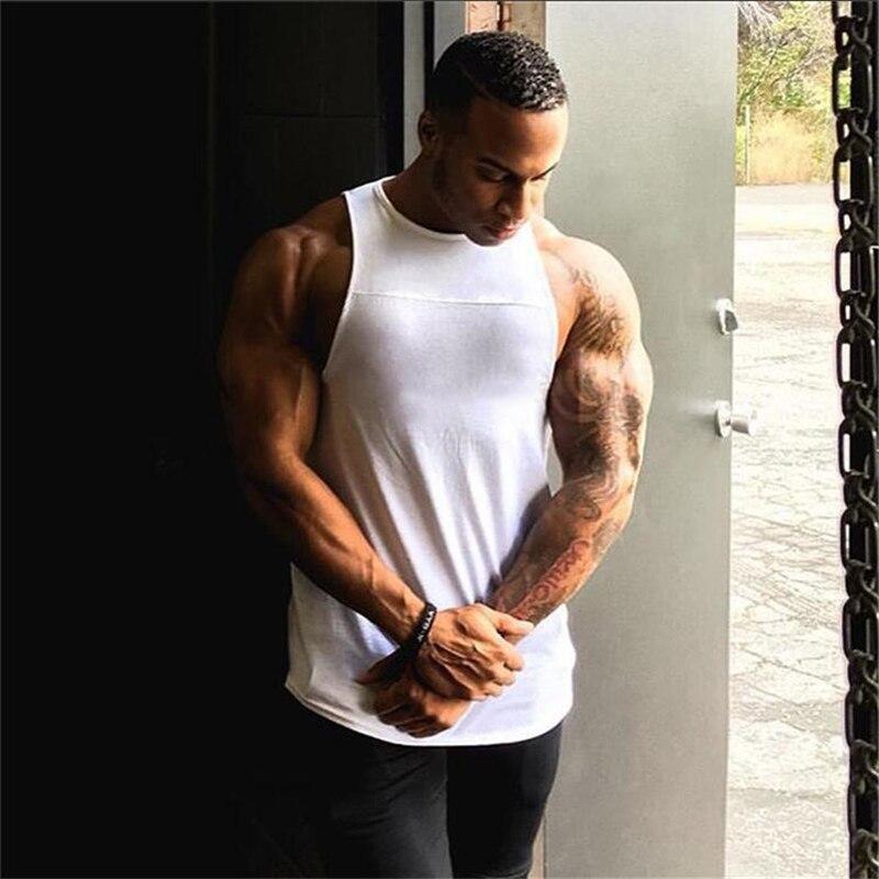 100% Wahr Neue Mode Marke Fitness Kleidung Bodybuilding Fitness-studios Tank Tops Männer Einfachen Ärmellose Weste Baumwolle Singuletts Blank Muscle Shirt Attraktives Aussehen
