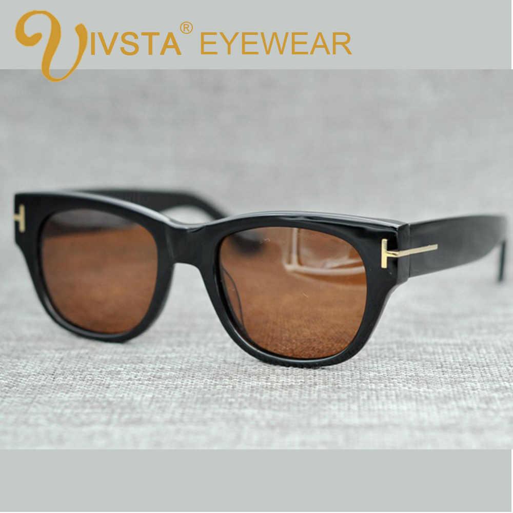 617702c891a4b IVSTA TF 58 Sunglasses Wome Real Handmade Acetate Polarized Lenses with  original logo Men Brand Designer