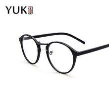 Yukii студенческие soild оптические простые кадр женские очки женщины