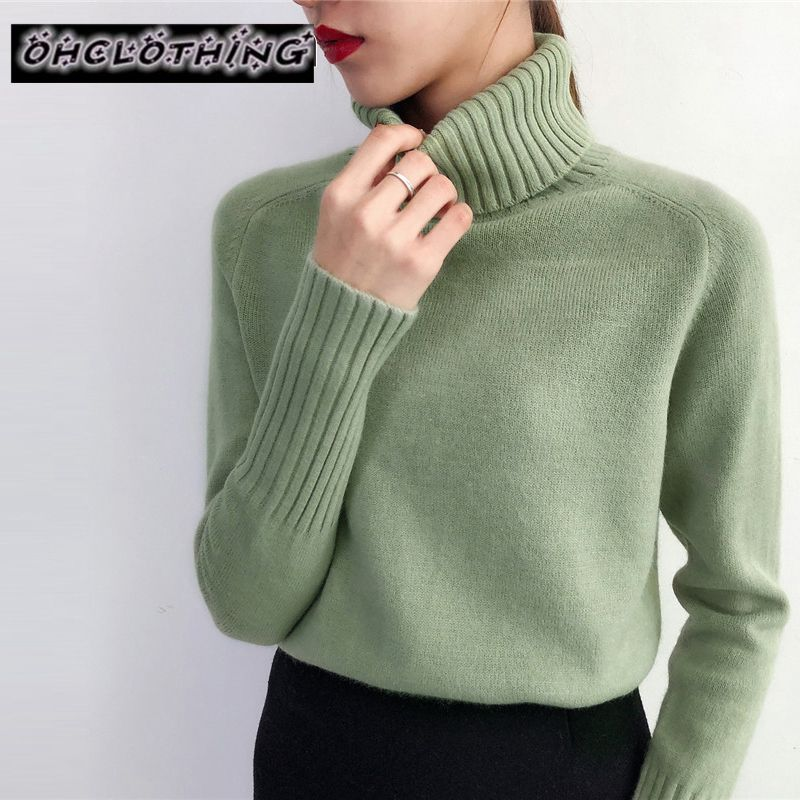 OHcloting Sweater Female 2019 Autumn Winter Cashmere Knitted Women Sweater And Pullover Female Tricot Jersey Jumper Pull Femme