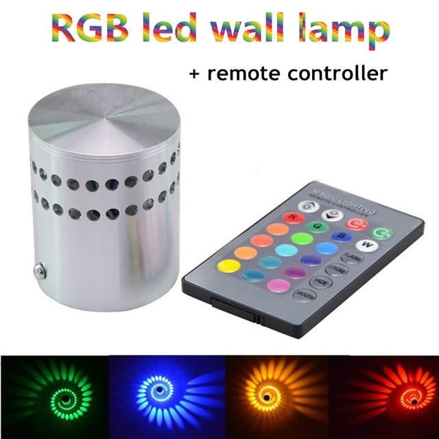 Moderne 3 W RGB mur LED lumière AC85-265V 110 V/220 V KTV karaoké Bar décoration mur LED lampes pour salon intérieur mur décoration