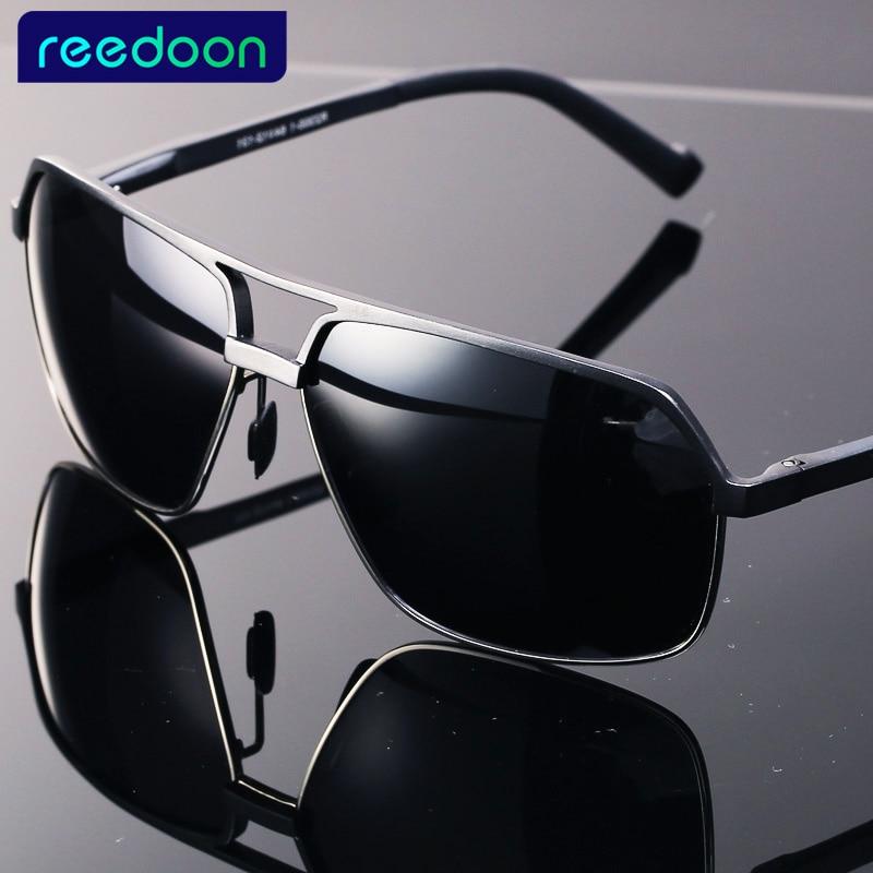 REEDOON Aluminium Magnesium Merkedesigner Polariserte solbriller Mennbriller Kjørebriller Sommer 2017 Briller Tilbehør2300-1