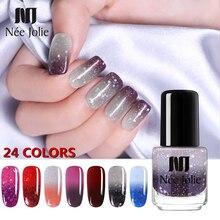 NEE JOLIE 3,5 мл температурный меняющий цвет термальный лак для ногтей блестящий эффект Быстросохнущий маникюрный лак градиентный лак для ногтей