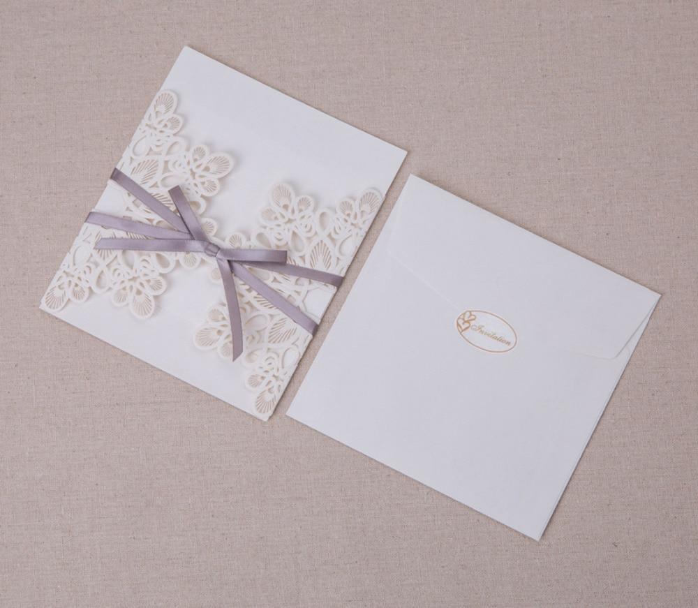 Aliexpress.com : Buy 50pcs/Lot Laser Cut Wedding Invitations Elegant ...