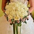 Caliente de la sede Artificial ramos de la boda para novia mano que sostiene las flores de boda hechos a mano accesorios ramo nupcial rojo Royal Blue