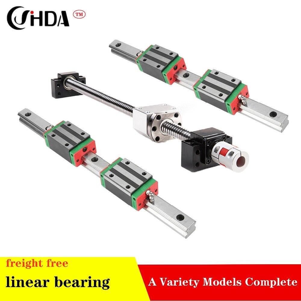 2 pc HGH20 qualquer comprimento + CONJUNTO 1 SFU1605 + 4 HGH20CA/HGW20CA +BK/BF 12  Linear guide Linear motion module2 pc HGH20 qualquer comprimento + CONJUNTO 1 SFU1605 + 4 HGH20CA/HGW20CA +BK/BF 12  Linear guide Linear motion module