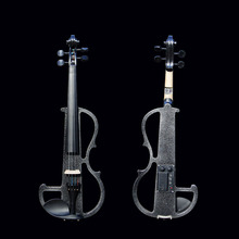 4/4 Violin China Brand Classic Black Electric Violin with Violin Case and Violin Bow Compact Structure & Excellent Tone