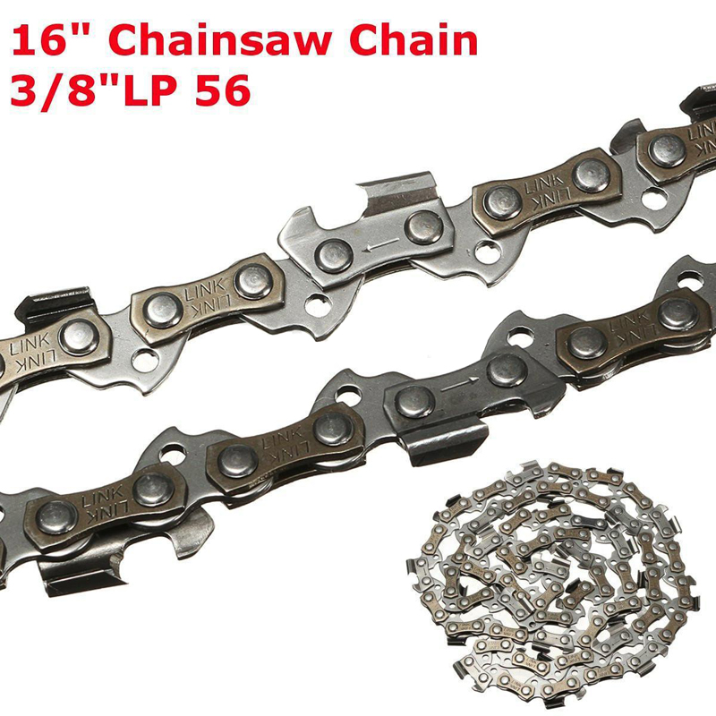 Mayitr 16 Chainsaw Saw Chain Blade 3/8LP .050 56DL Shape Blade for Wood Cutting Lawn Mower Chainsaw Parts fitsain mini table saw for motor shaft 8mm saw blade 16mm 20mm belt spindle cutting saws machine pulley bracket bearing chainsaw