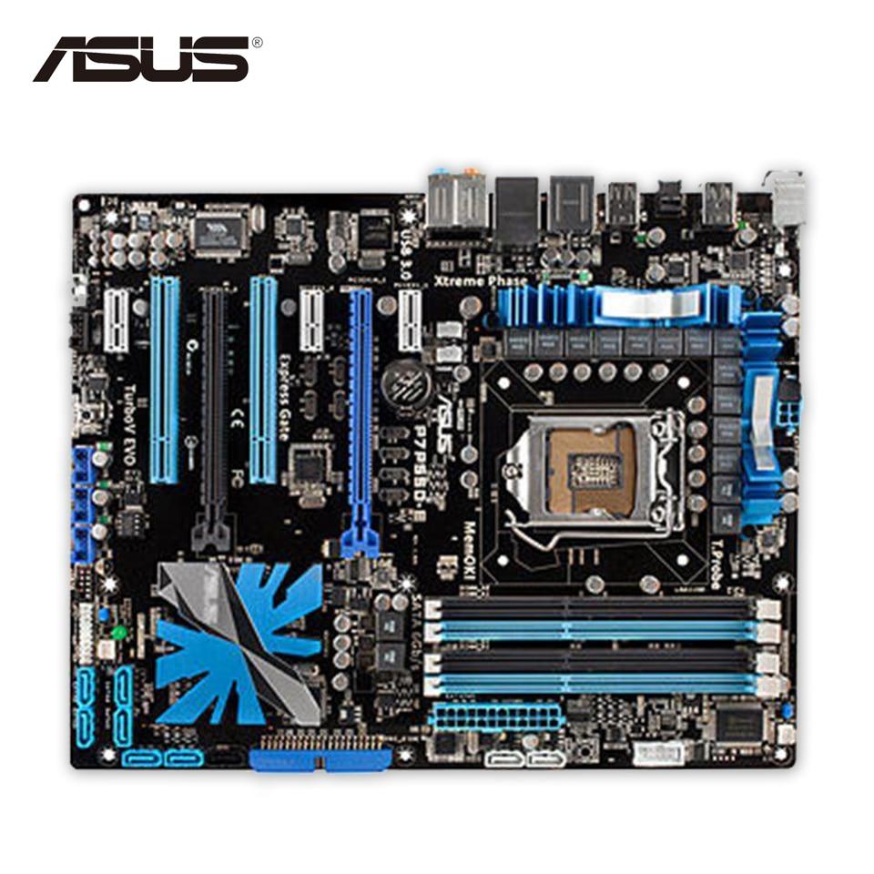 все цены на Asus P7P55D-E Pro Desktop Motherboard P55 LGA 1156 i3 i5 i7 DDR3 16G ATX Second-hand High Quality онлайн
