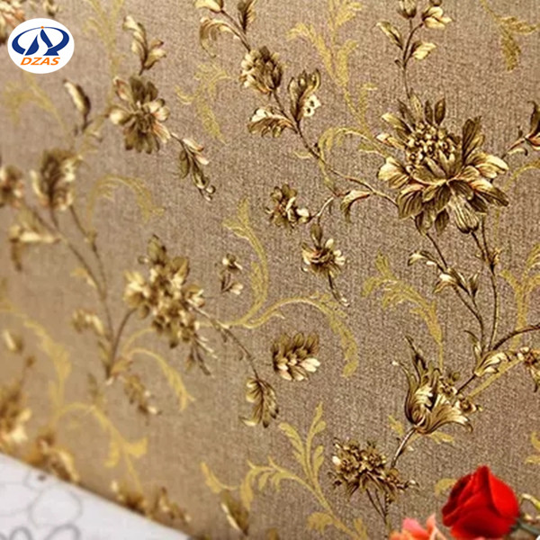 Modern Chinese gold foil, wallpaper, classical gold, large flower, teahouse, living room, hotel, background ZMH wallpaper the 2016 gold foil chinese dragon background wallpaper