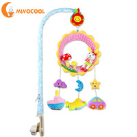 MINOCOOL New Infant Toys Mobile Baby Plush Toy Bed Wind Chimes Rattles Bell Toy Baby Crib Bed Hanging Bells Toys