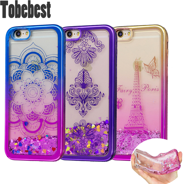 quality design 99fdd 0bbfa US $4.79  For iphone 7 7 Plus Case Soft TPU Dynamic Liquid Glitter Cases  For iphone 6 6S 6 Plus SE 5S 5 Paillette Sand Quicksand Cover -in Fitted ...