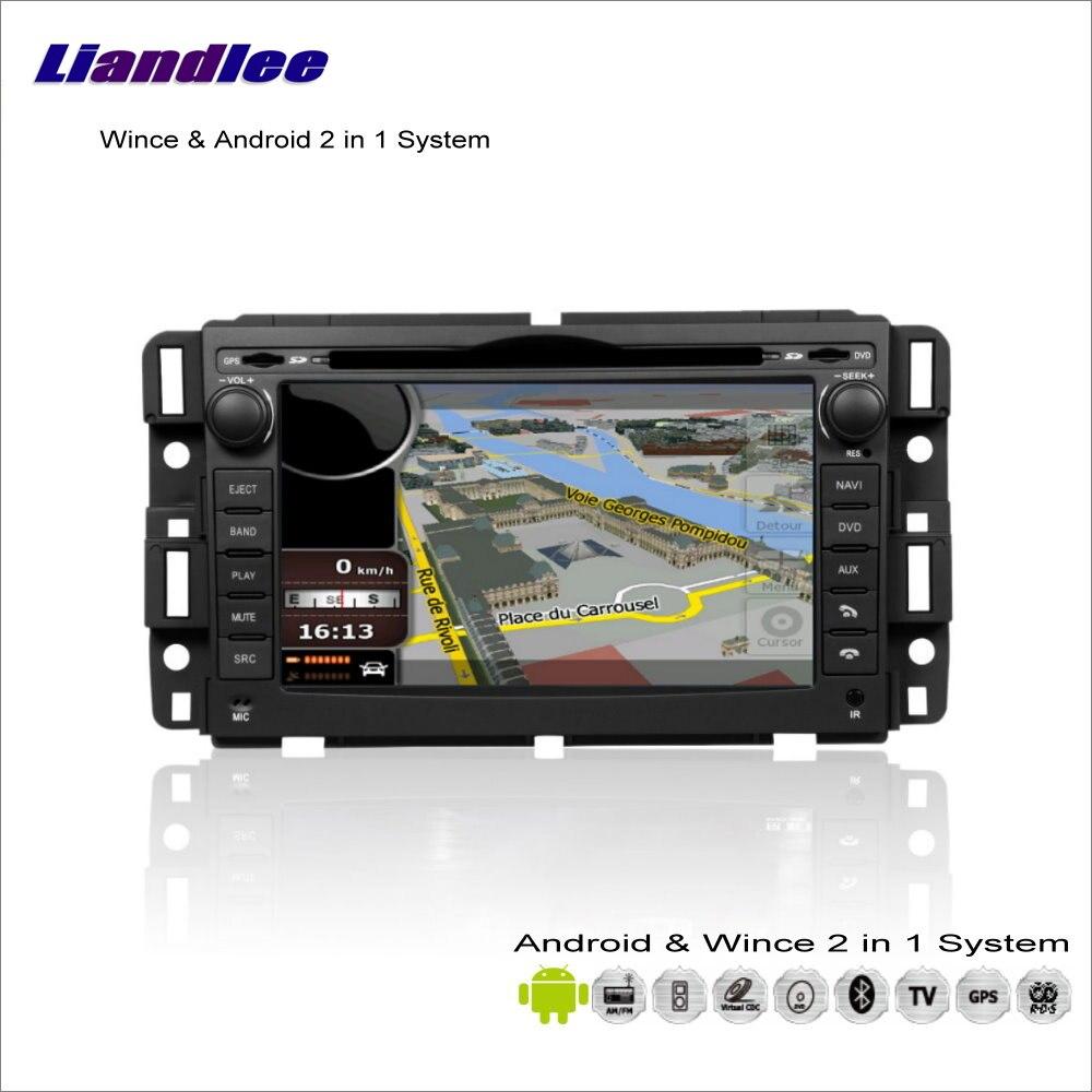Liandlee pour GMC Acadia/Youkon 2006 ~ 2012-lecteur CD DVD autoradio Navigation GPS système Wince avancé et Android 2 en 1 S160