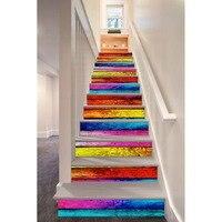 3D Aufkleber selbstklebende Treppen Aufkleber für Stairway DIY Removable Dekoration Flur Schritt Boden PVC Aufkleber Papier diy