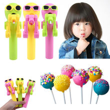 Creative Lollipops Artifact Funny Eating lollipop Robot Holder Stand Gifts Toy Gift toy For Children 2019(China)