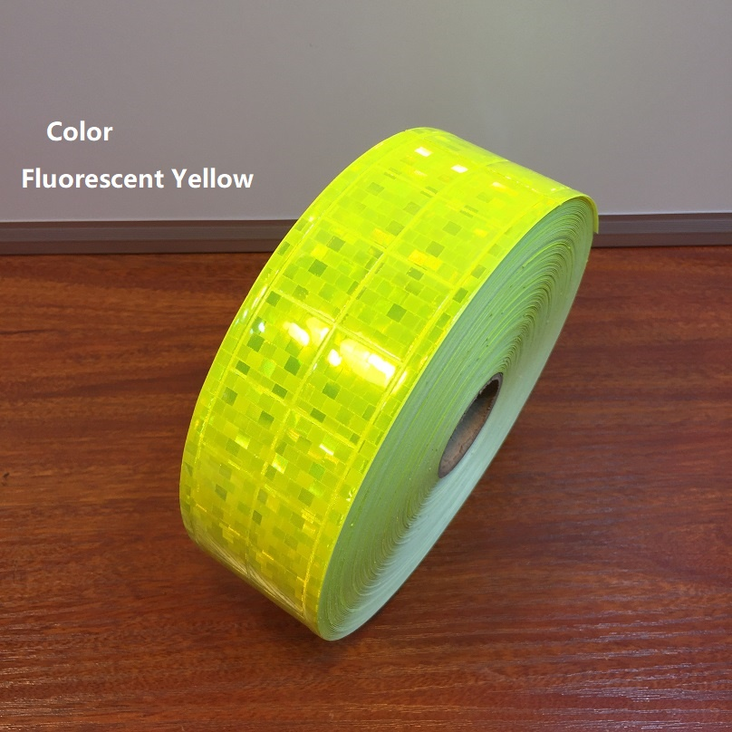 5CM Microprism Reflective Fluorescent Yellow Warning Tape Road Traffic Reflective Material Belt Of Garment Accessories